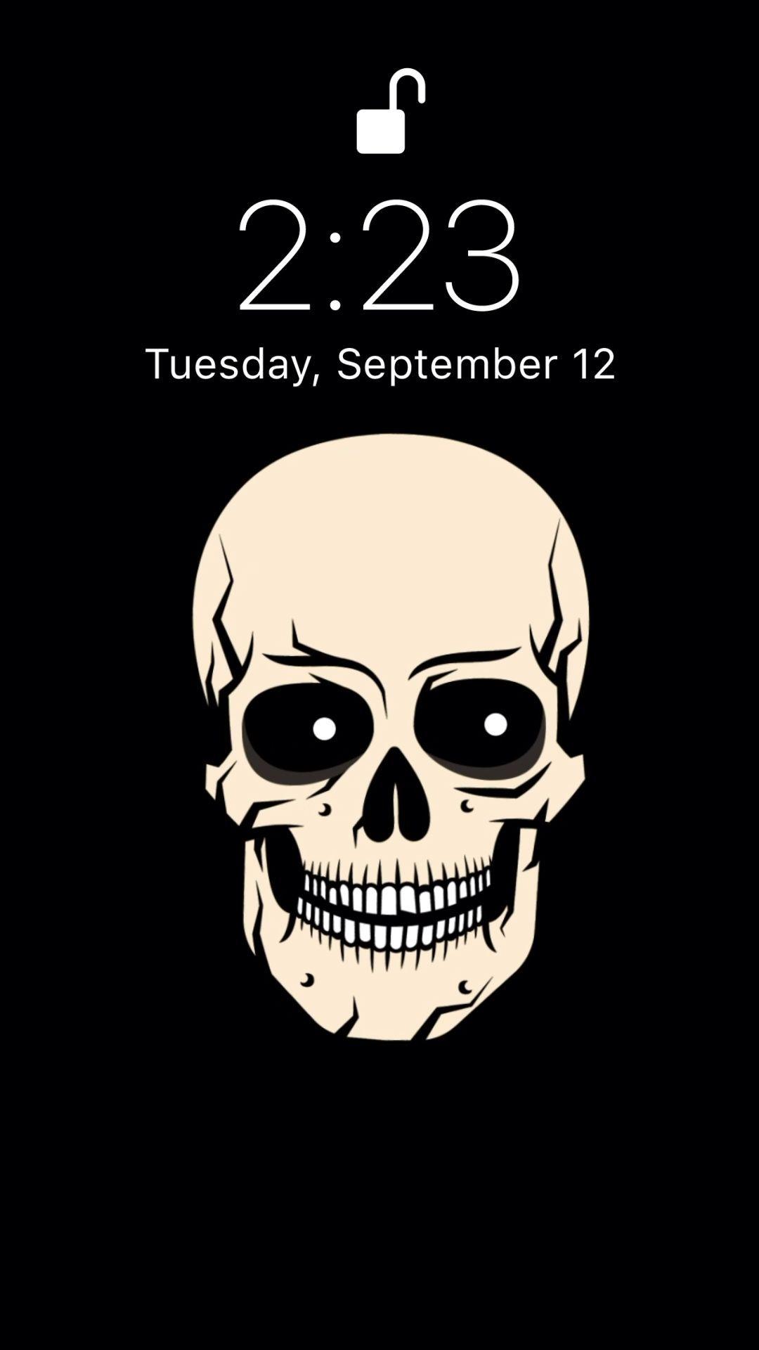 Skull Live Wallpaper In 2020 Locked Wallpaper Iphone Wallpaper