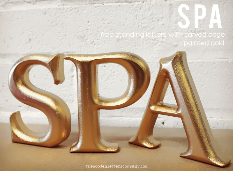 Buy Letters For Wall Carved Rounded Freestanding Wooden Letters  Shop Interiors