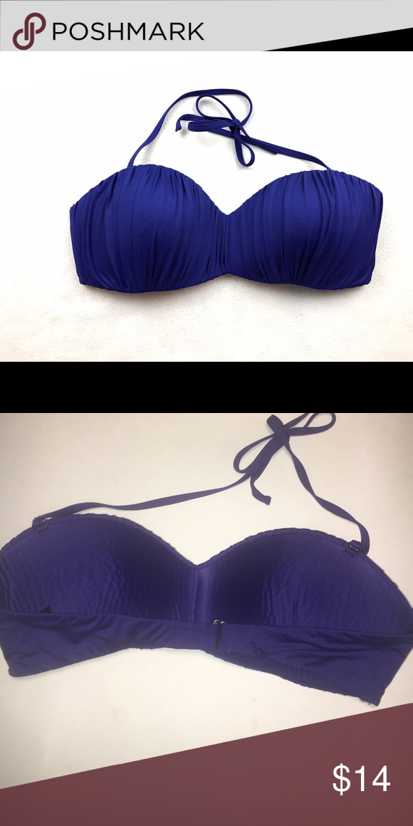 H&M purple pleated bikini top Super cute bikini top! This top can be paired with any color. Can be worn as a halter top or strapless ☀️ H&M Swim Bikinis