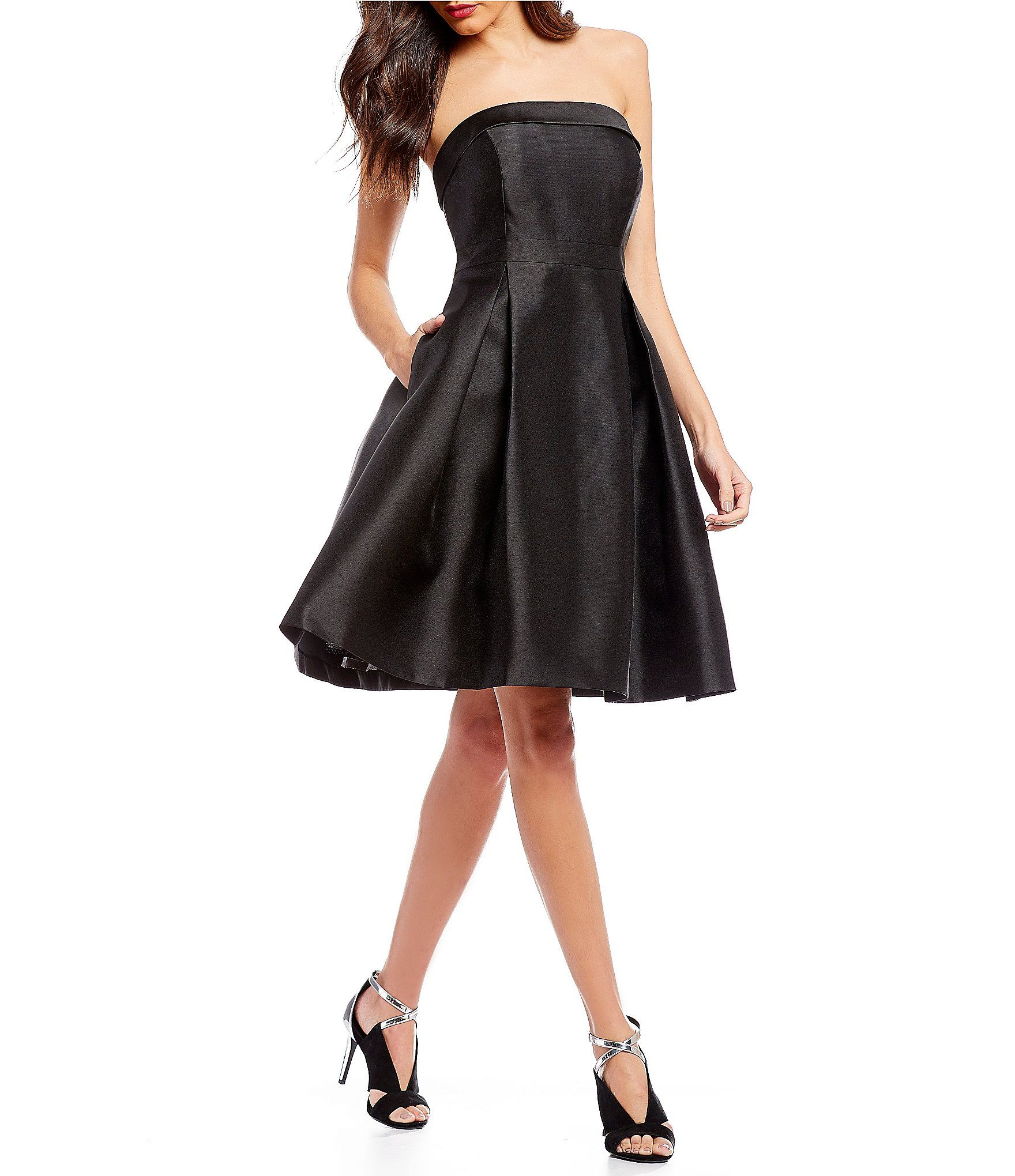 Calvin Klein Strapless Fit and Flare Party Dress   Dillards and ...
