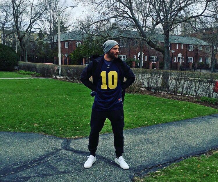 Julian Edelman wearing Tom Brady Michigan jersey. I love how much ...