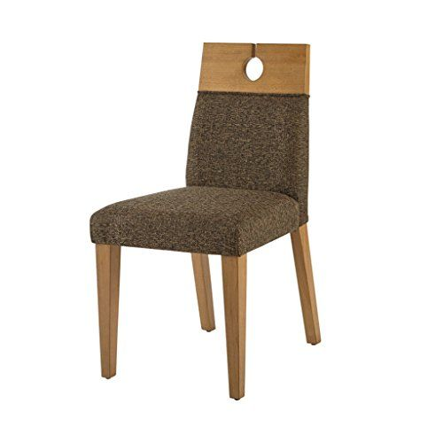 Retro Modern Brown Upholstered Parsons Dining Chairs With Wood Keyhole  Accent Top (Set Of 2)   Includes Modhaus Living (TM) Pen | Furniture 4 |  Pinterest ...