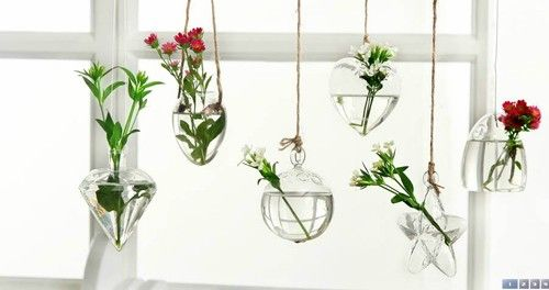 Hanging Glass Terrarium Plant Jar Glass Vase Free Shipping
