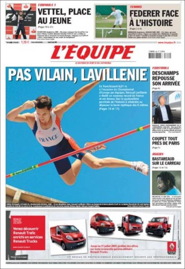 L'Équipe - Lundi 22 Juin 2009 - N° 20071