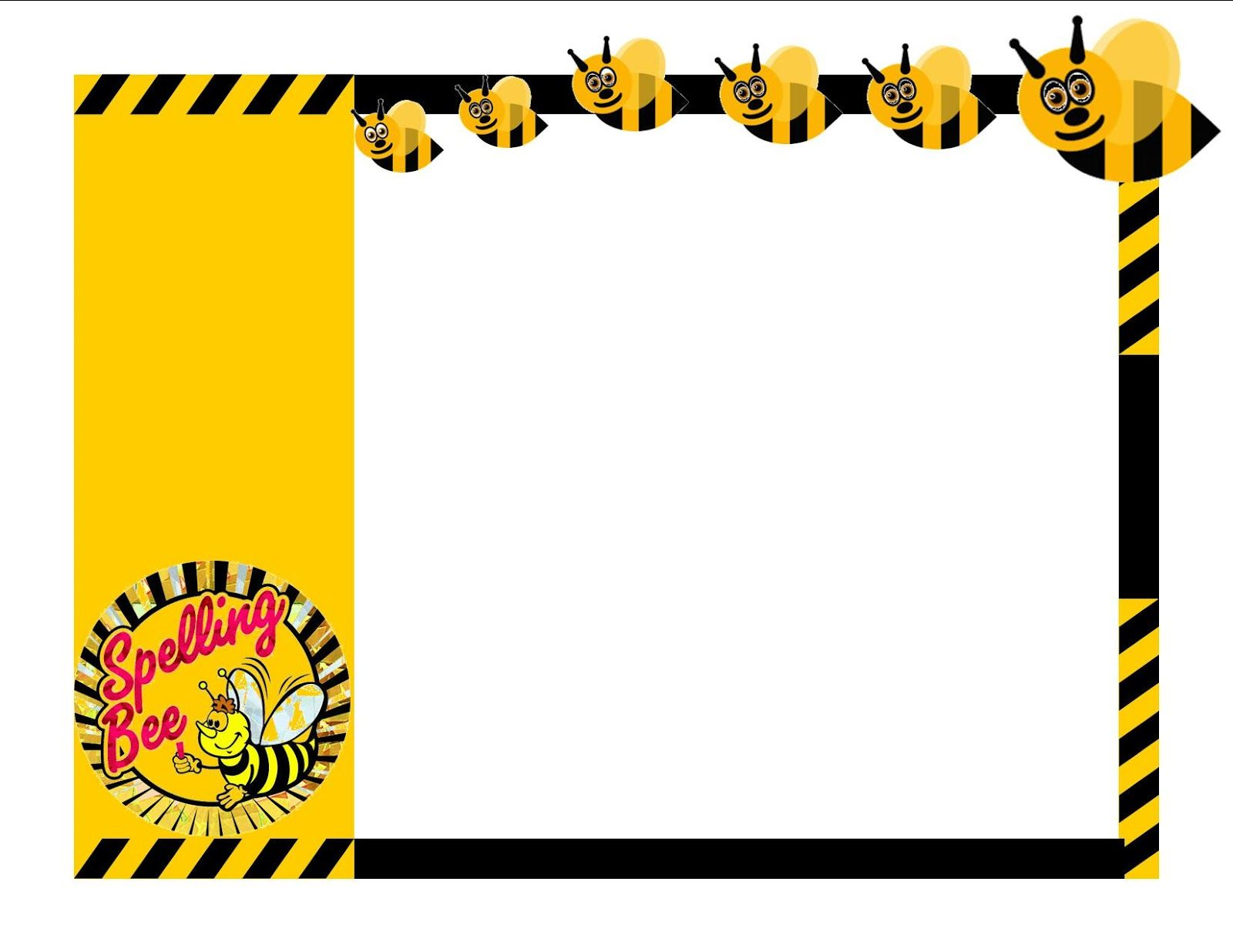 Spelling bee certificate clip art invitation templates for Spelling bee invitation template