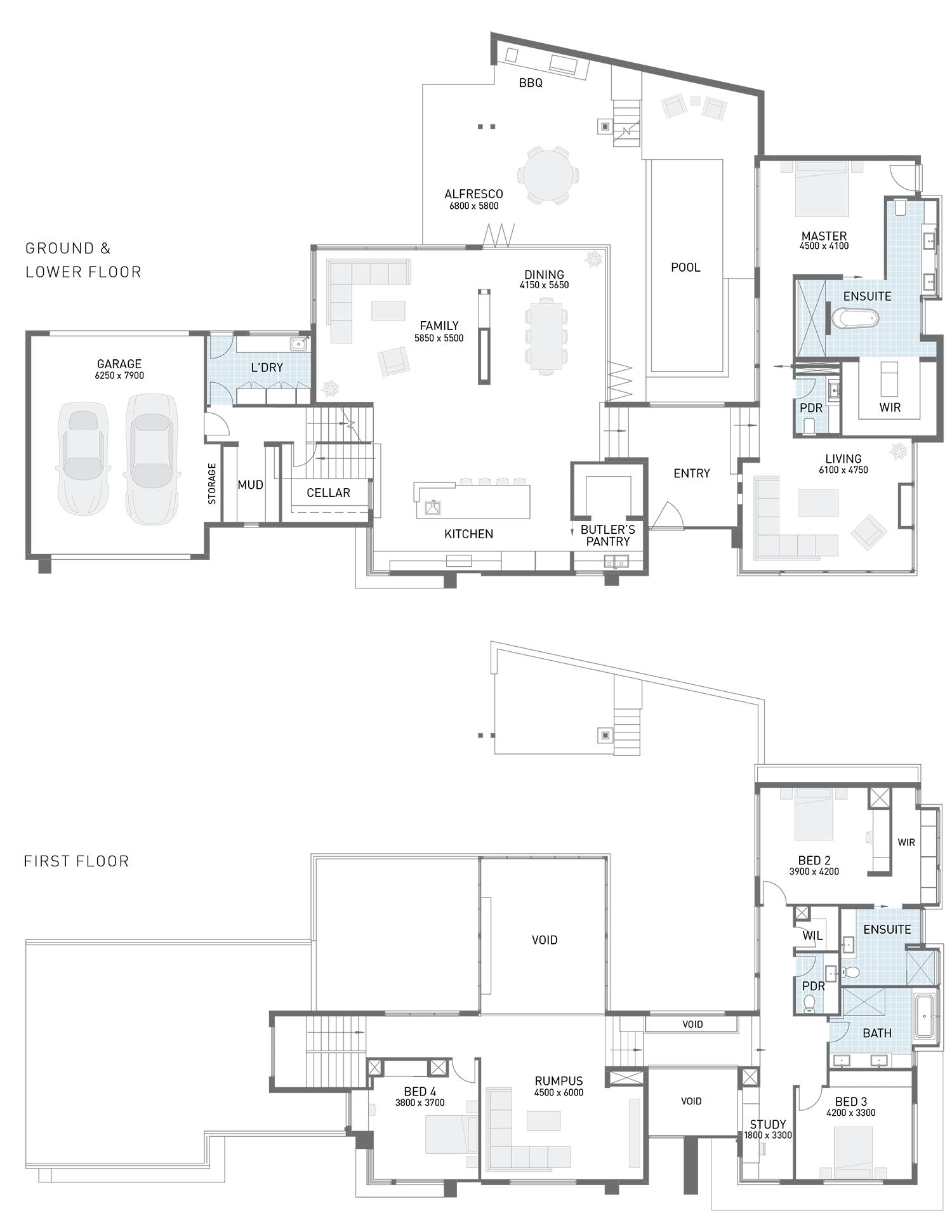 Floor Plan Friday Corner Block Split Level Split Level Floor Plans Split Level House Plans House Plans