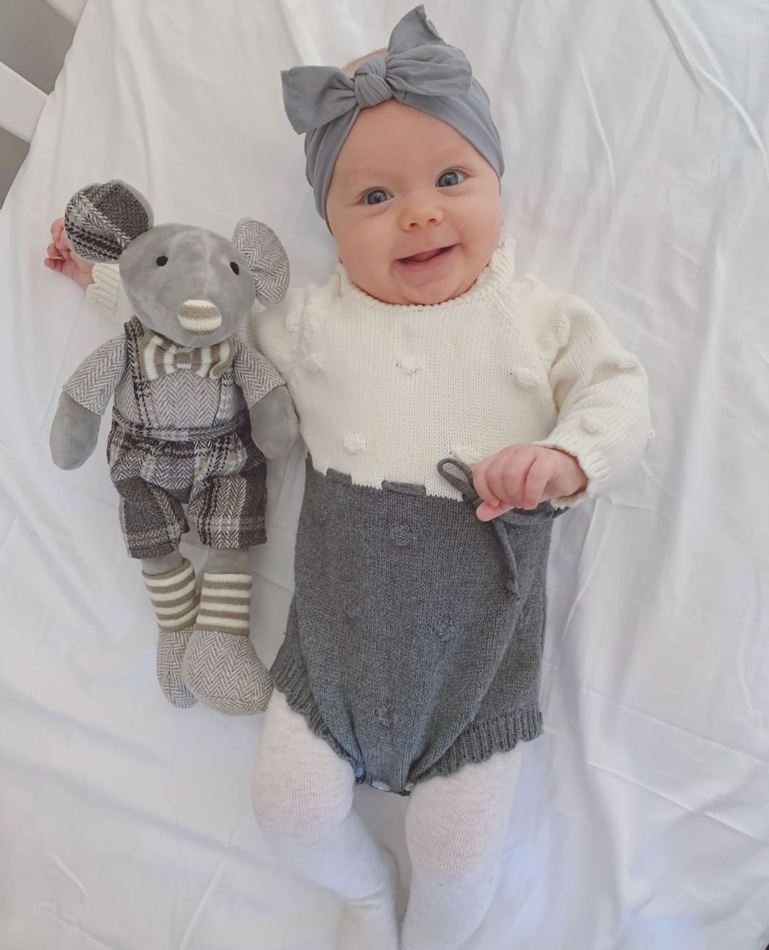 It's only Thursday but baby Ari and her little friend are sooooo ready for the weekend🥰  She's wearing our Rumi Romper in Gray (Hello, muted color palette. Can't get enough how cute and clean this is!)🤩❤️  📸 Thank you mommy @radikaraa for sending this to us! Sooo love it!🥰  #ashmiandco #babystore #babyfashion #babyclothing #babystyle #babyaccessories #kidsclothing #fashionbaby #kidsclothingstore #trendybaby #babieswithstyle #trendykids #babyshower #babygirl #babyboy #babybump #etsybaby