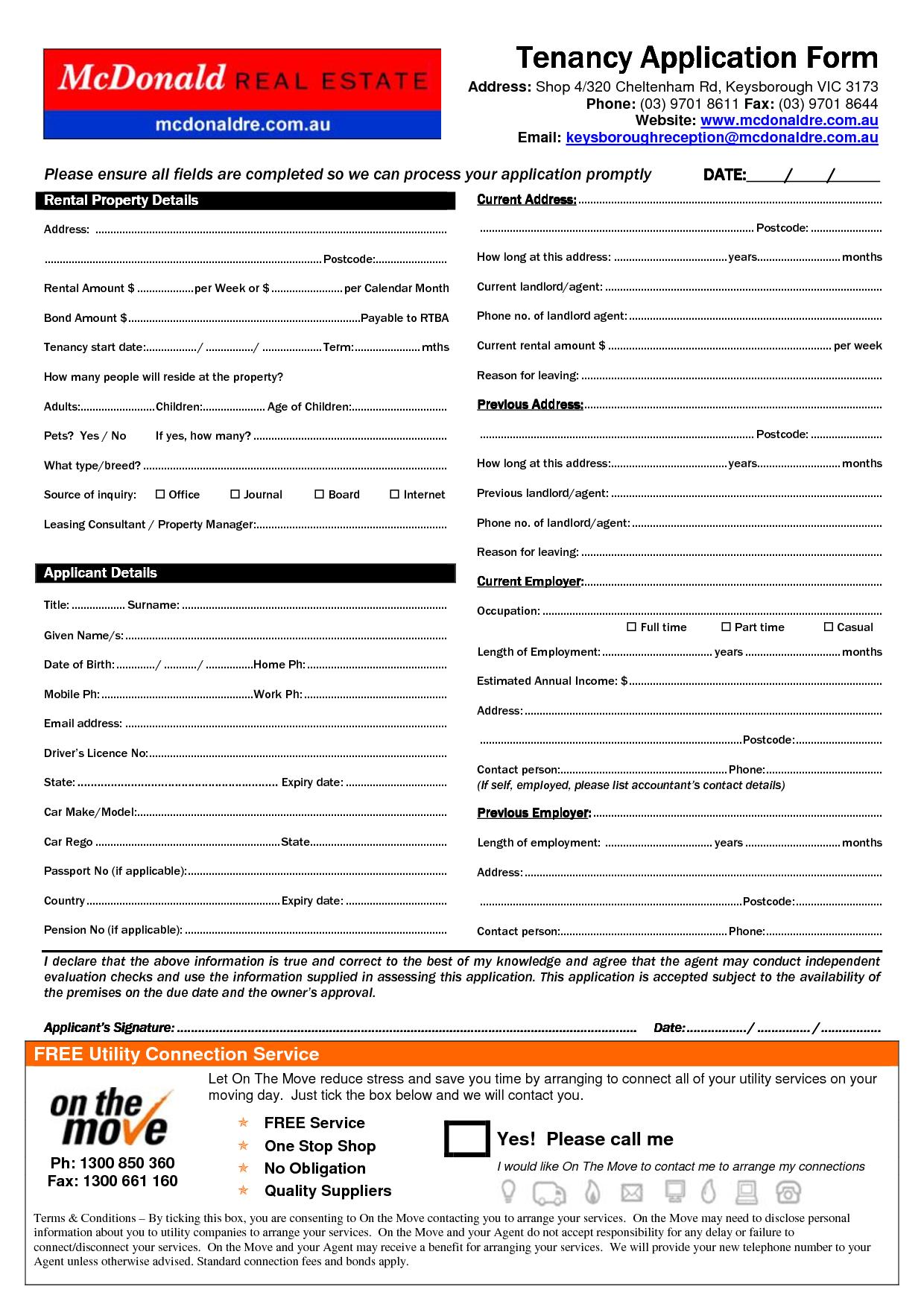 copy of rental agreement