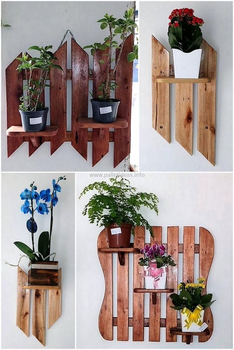 This Plan Of Wood Pallet Wall Planter Art Is A Simple And Swift
