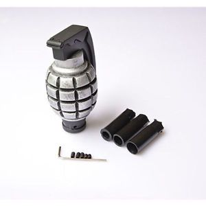 Car-Truck-Manual-Gear-Stick-Shift-Lever-Knob-Shifter-Grenade-like-design-Silver