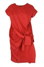 Aboina Red Silk Dress