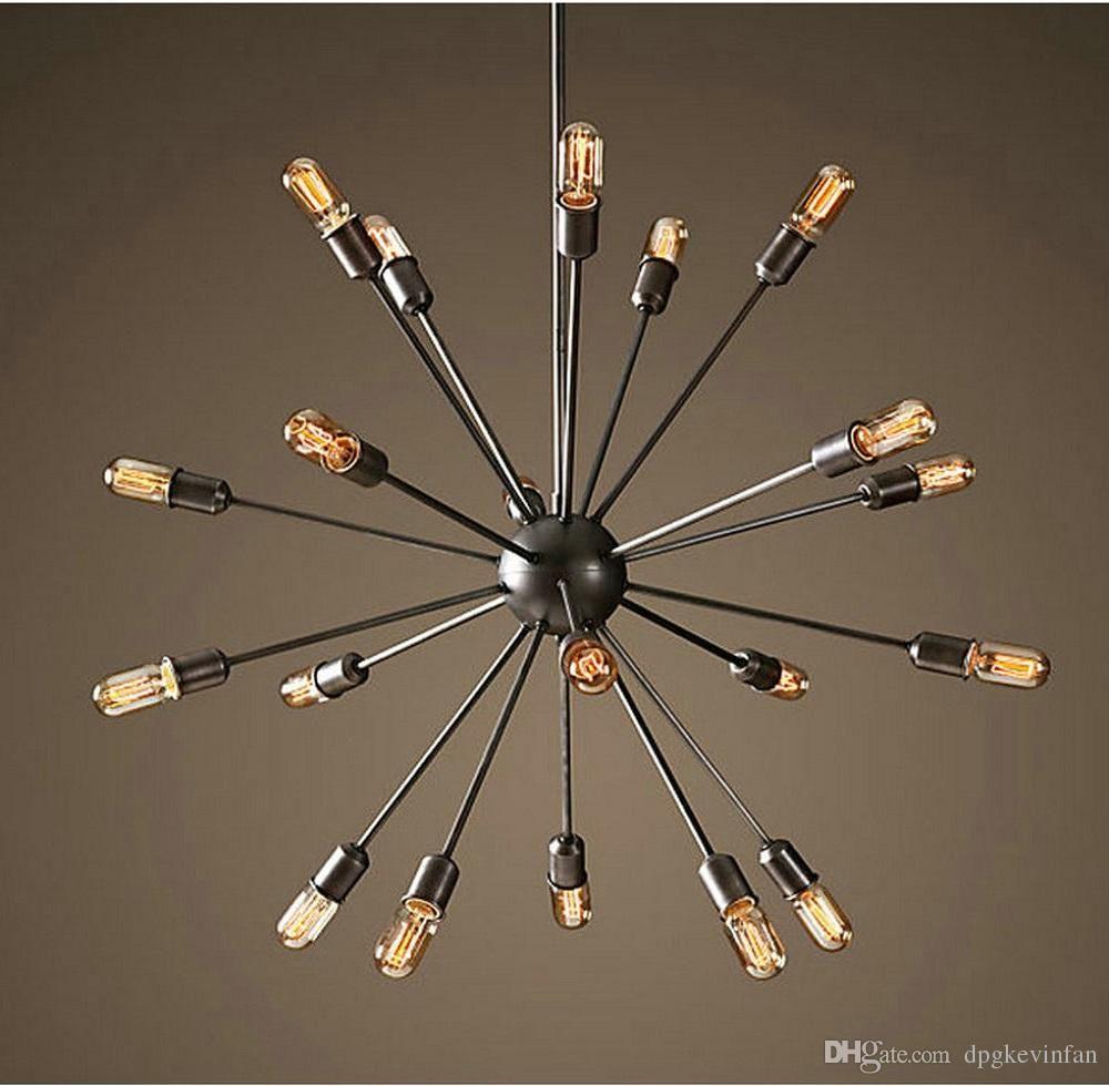 Satellite Chandeliers Vintage Wrought Iron Pendant Light Spherical Spider  Lamp Edison Pendant Lighting Pendant Light Fittings