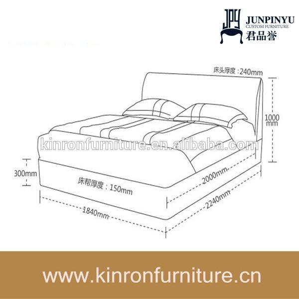 Medidas de una cama king size buscar con google for Cama 3 4 medidas