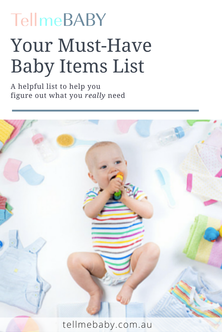 Your Must Have Baby Items List - TellmeBABY | Baby items ...