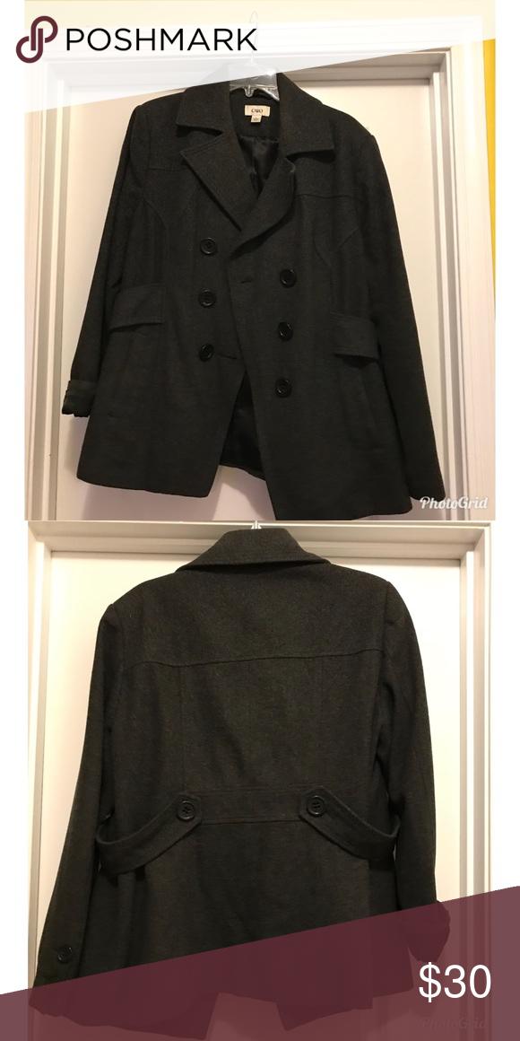 2df08ce2511 Cato Pea Dark Gray Coat Double Breast Gray pea coat. All buttons in tack.