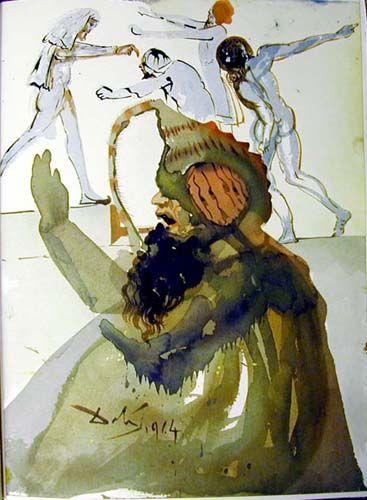 Salvador Dali (1904 - 1989) | Symbolism, Expressionism | Iosephet fratres in Aegypto - 1967