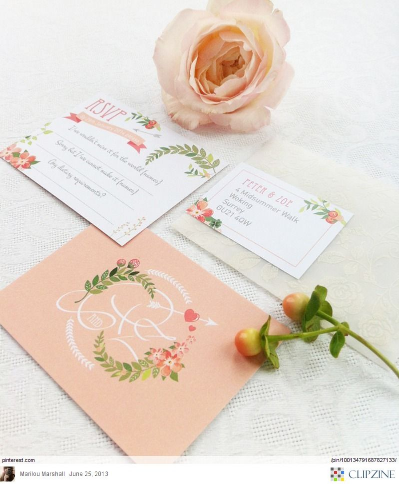 Love The Vintage Floral Design Perfect For A Spring Wedding