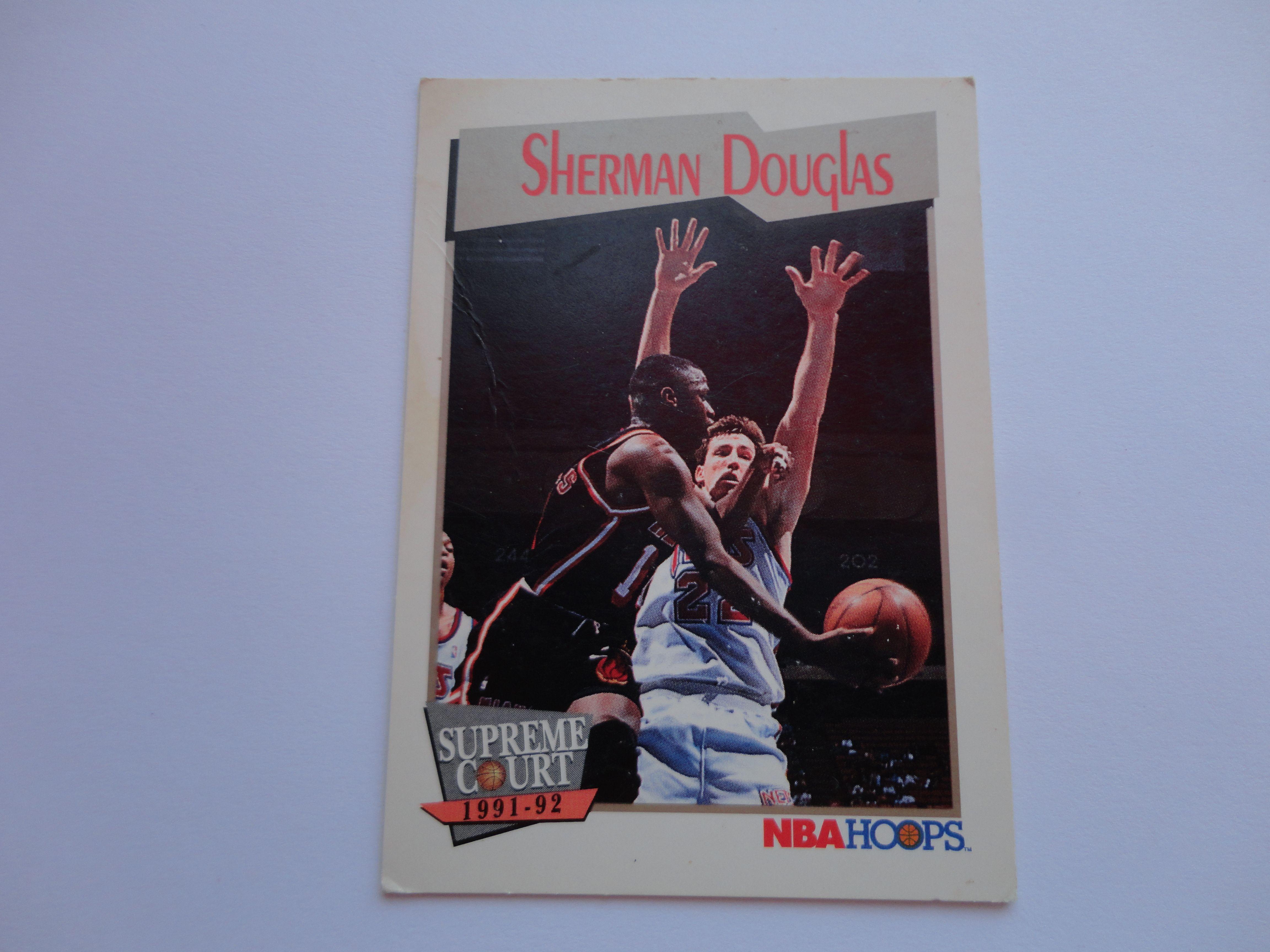 Sherman Douglas NBA Hoops Supreme Court 1991 92 Basketball Card