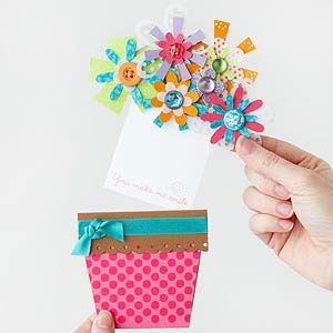 Bouquet of Flowers #Card with a Hidden Message.