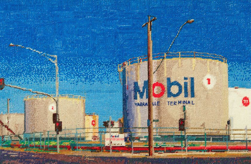 Yarraville Terminal view from Hyde Needlepoint by Jessie Deane