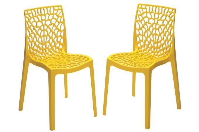 magnifique chaise jaune pas cher | Décoration française ...