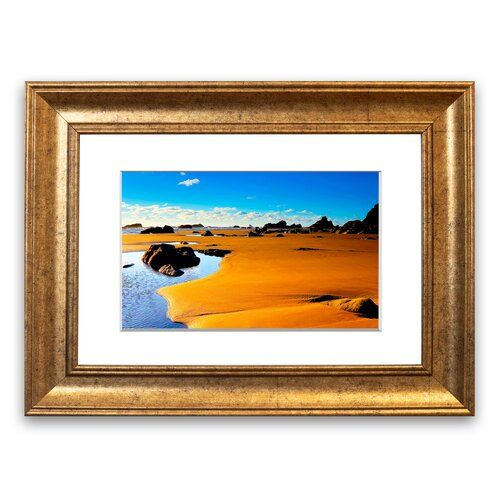 Photo of East Urban Home Framed Poster Waterhole in the Desert Wayfair.de