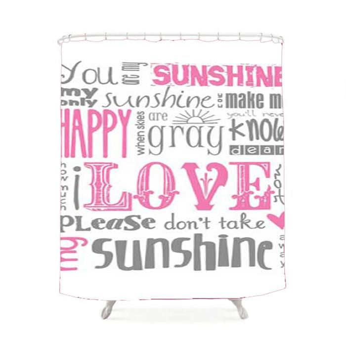 You Are My Sunshine Lyrics Shower Curtain You Are My Sunshine