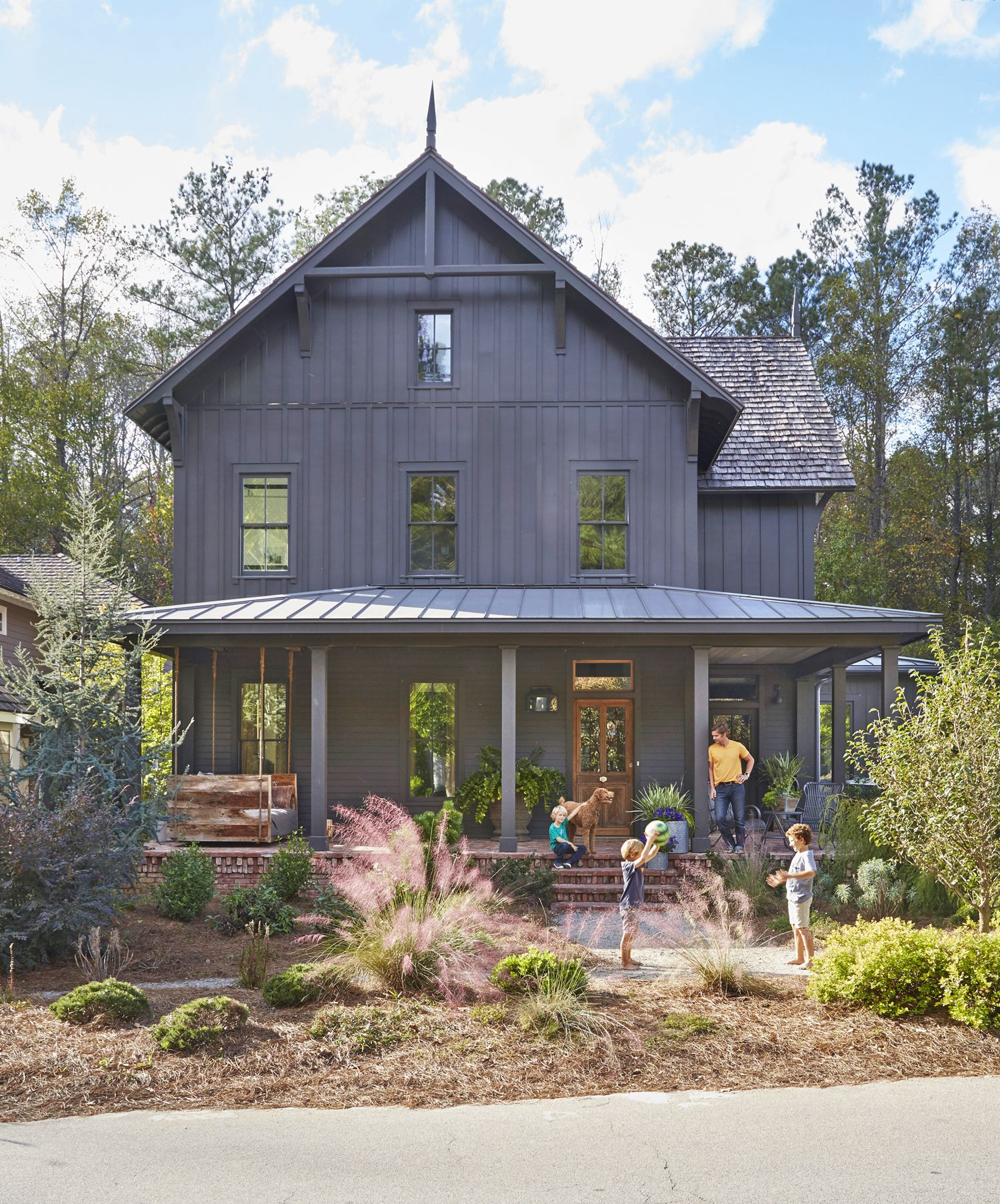 Welcome to the porch capital of america farmhouse - Rustic farmhouse paint colors ...
