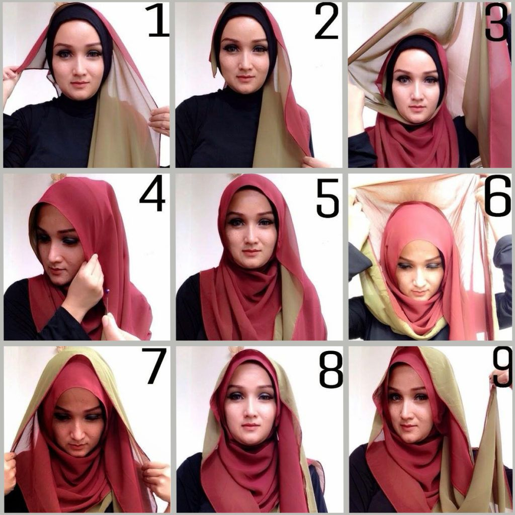 tutorial jilbab pashmina two tone modern dan simple | hijab fashion