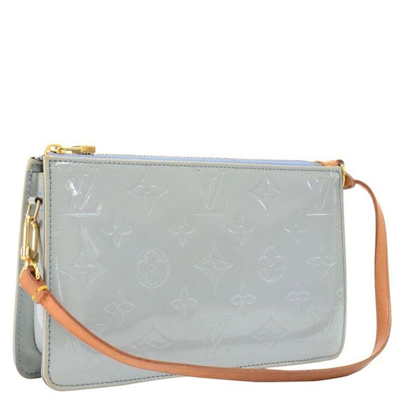 f77b6a3ab19 Louis Vuitton Baby Blue Monogram Vernis Lexington Pochette Bag - Buy   Sell  - LC
