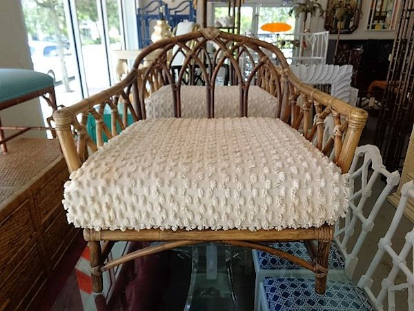 Pair Of RATTAN McGuire Chairs In Nice As Found VINTAGE Condition. There Are  Scuffs, Scrapes And Wear To The As Found Finish. Wear And Staining To The  As ...