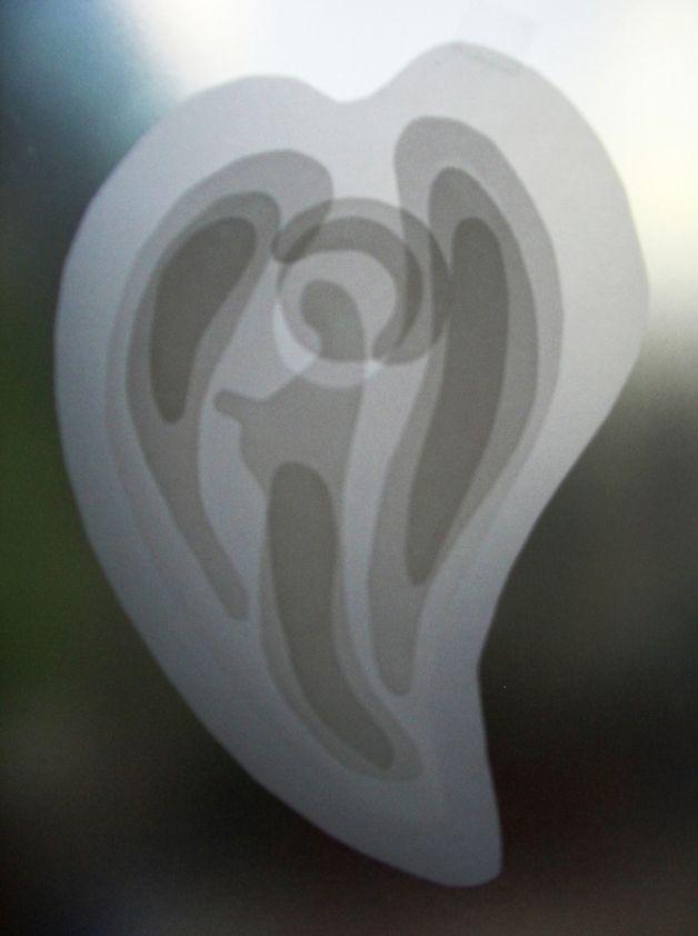 lichtgestalt engel transparent basteln fensterbild