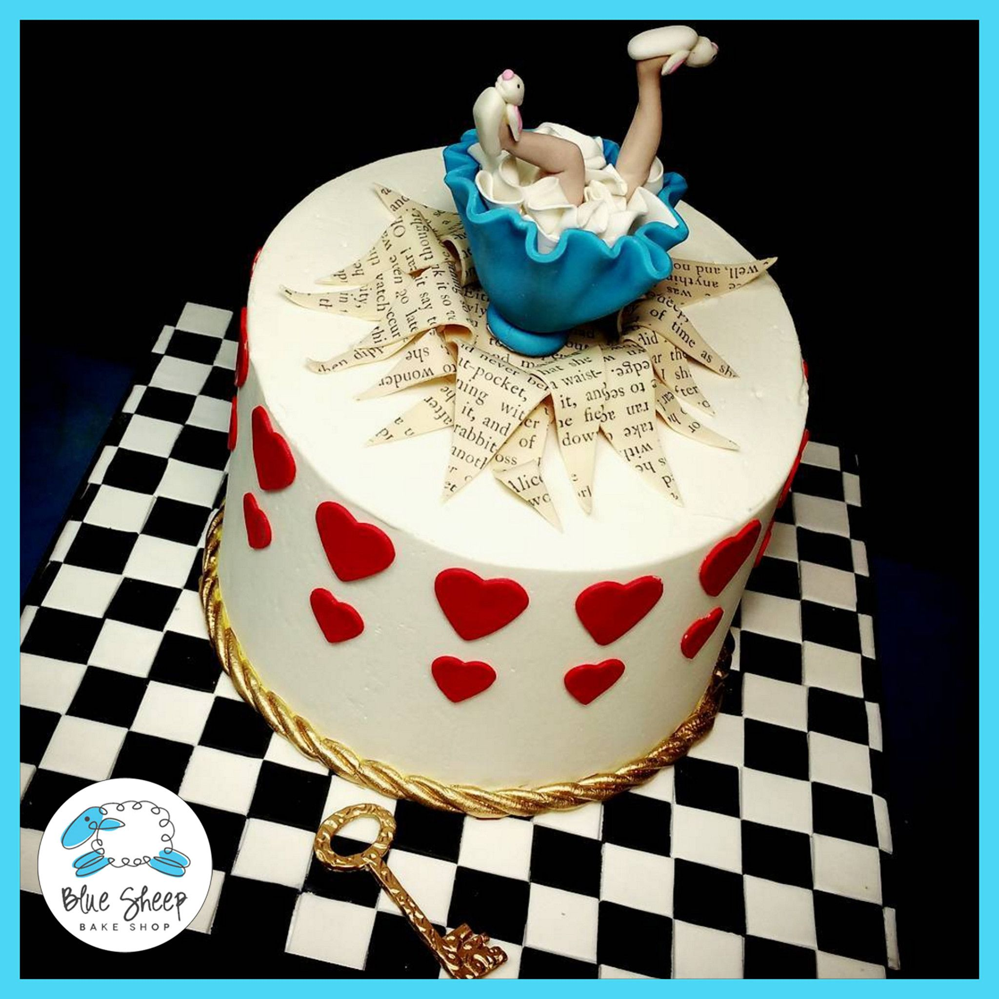 Strange Alice In Wonderland Birthday Cake Iii With Images Alice In Personalised Birthday Cards Cominlily Jamesorg