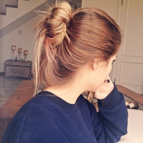 Long Hair Don't Care Hipster Indie Tumblr Girl Messy Bun