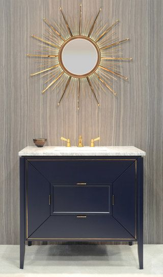 AMORA from Ronbow at Interior Design productFIND: The unexpected geometric lines of the doors and drawers make the Amora Vanity a ...