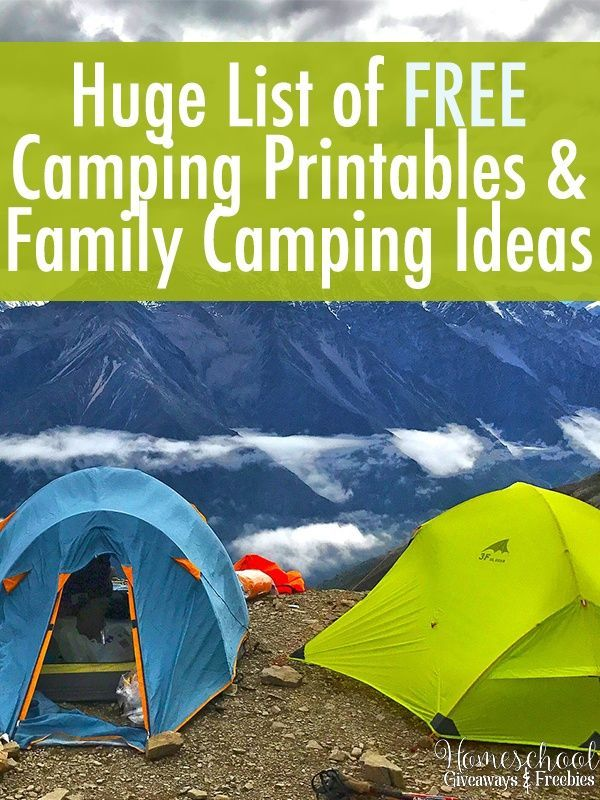 Ohio Thoughts~: Tent Camping List