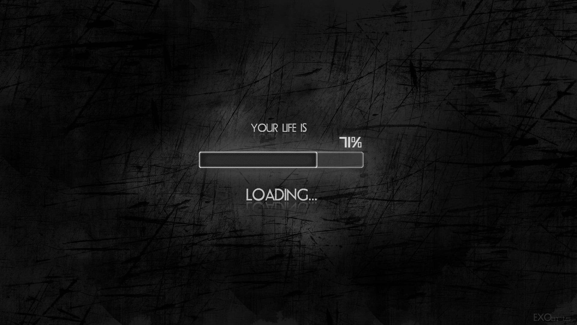 Wallpaper Your Life Is Loading Text Black Minimalism Humor Simple Background In 2020 Desktop Wallpaper Motivational Wallpapers Hd Motivational Wallpaper
