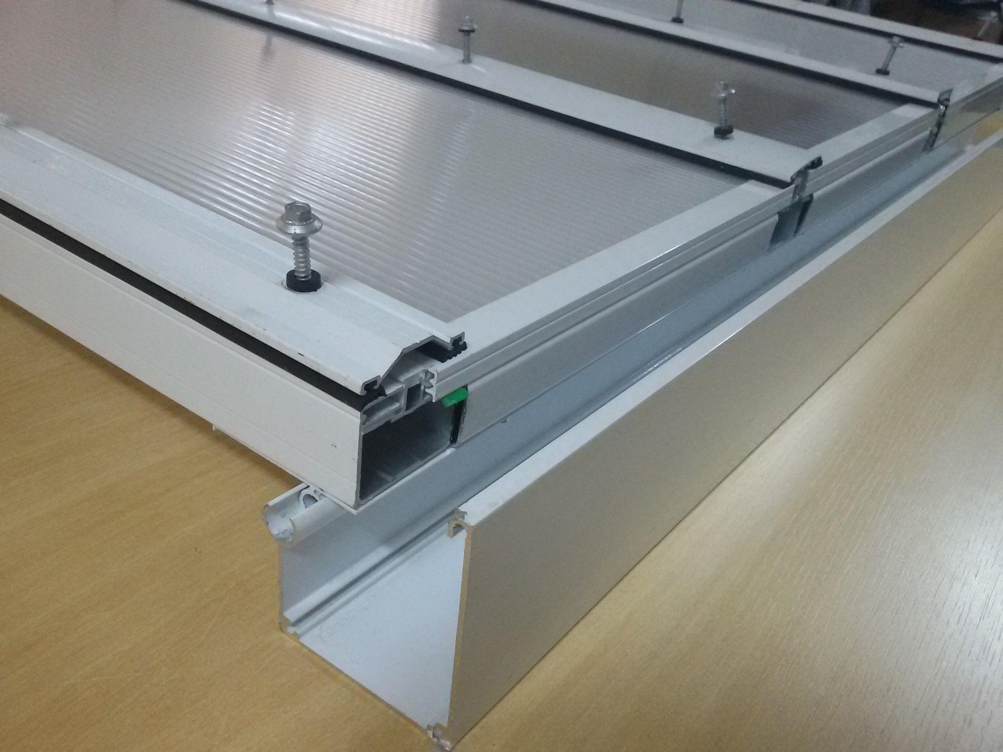 Resultado de imagem para viga calha regul vel cobertura for Herrajes de aluminio para toldos