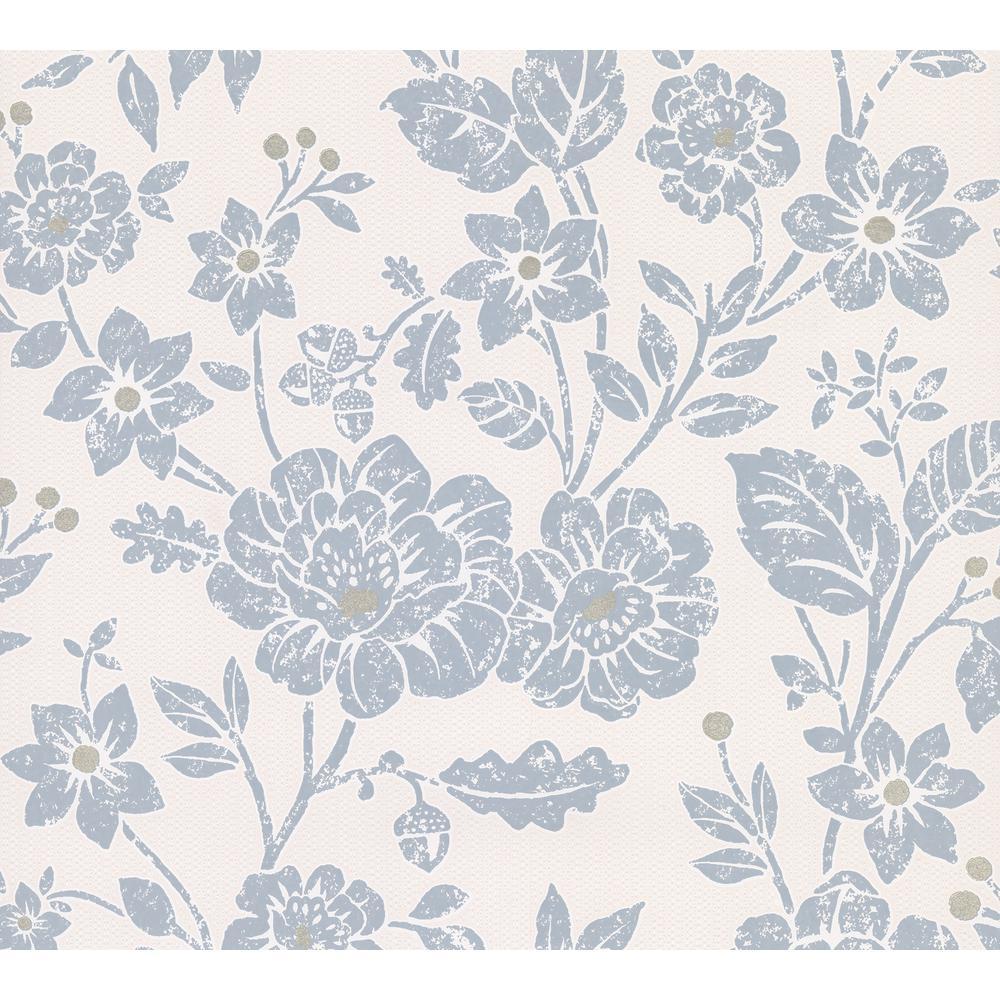 Advantage Bourdain Slate Floral Wallpaper Sample 2813 M1350sam