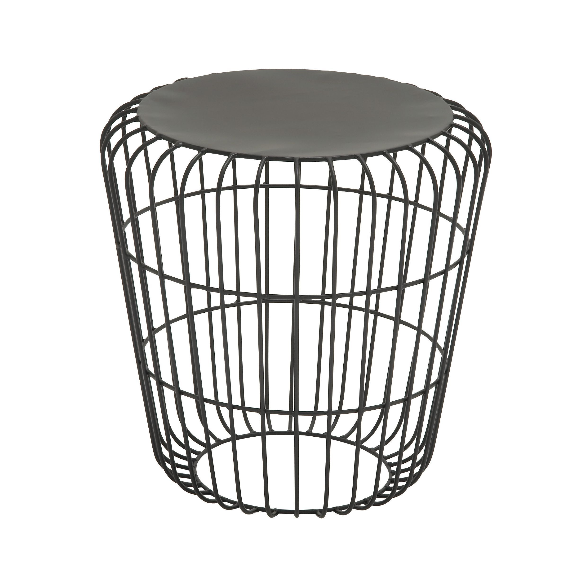 This elegant round wire side table black adds instant style to your ...