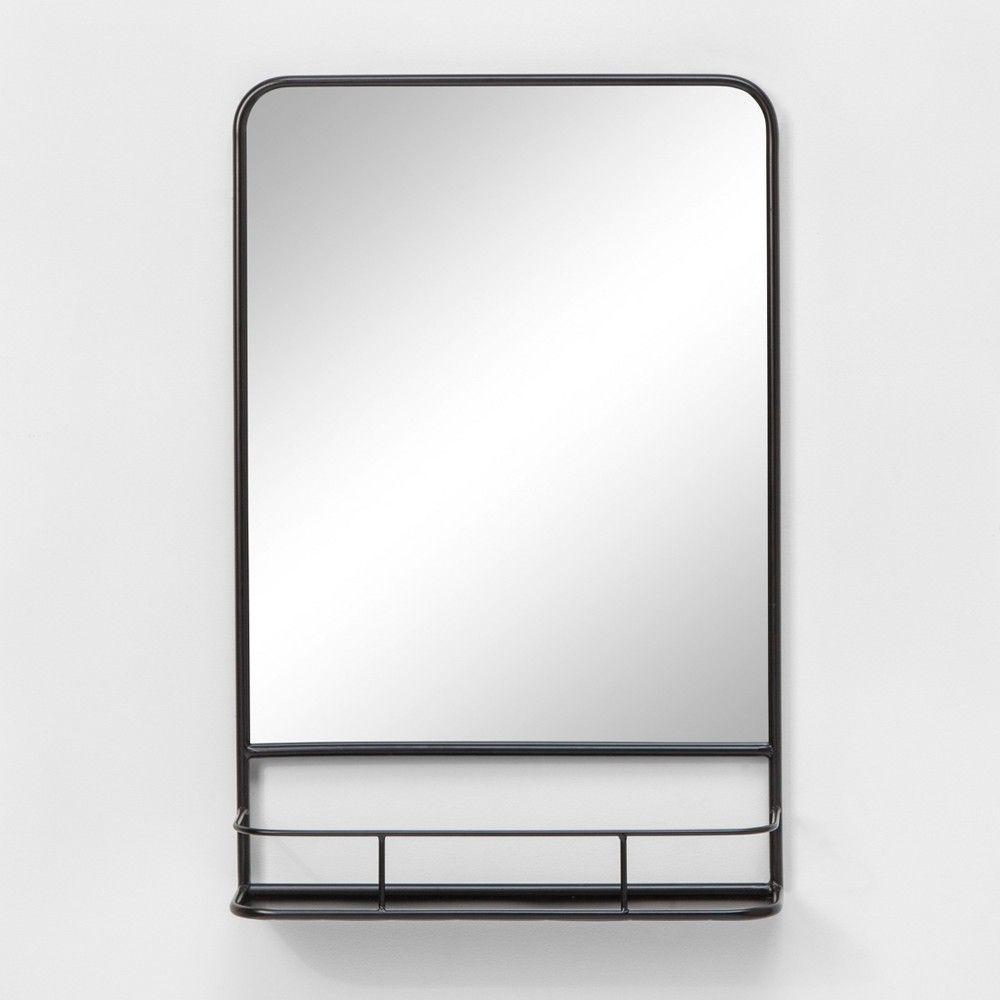 20 X30 Pharmacy Mirror With Metal Shelf Black Threshold Metal Shelves Unique Bathroom Unique Bathroom Mirrors [ 1000 x 1000 Pixel ]