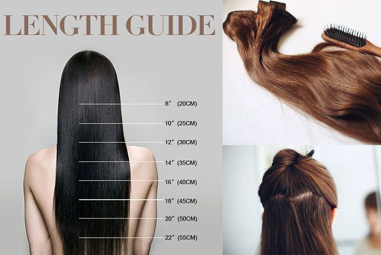 Buy 7pc 22 Clip In Hair Extensions Set 10 Colours Uk Deal For