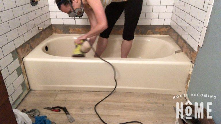 How To Paint A Bathtub In 2020 Bathtub Diy Bathtub Bathtub