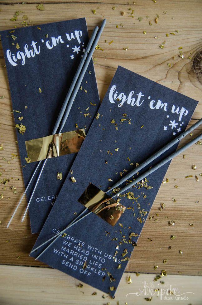 Light 'em Up! Sparkler send off printables - Bespoke Decor