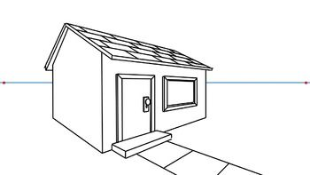 How to draw a 3d house 2 point perspective perspective 3d and perspective drawing 3d house drawing