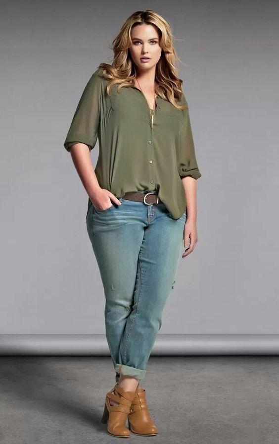 Young Adults Plus size fashion trends jeans Fanny Sanches Zelfstandige Schoonheidsconsulente met Mary Kay