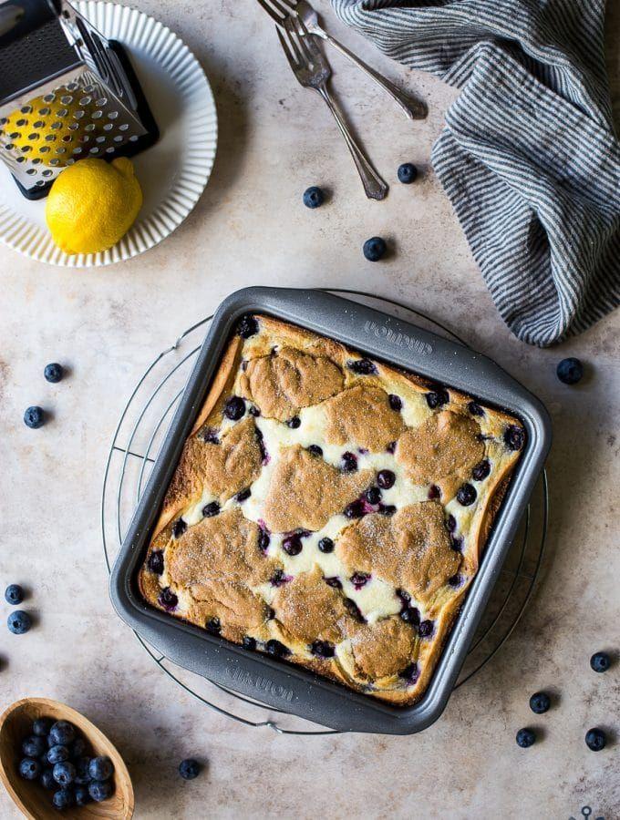 Lemon Blueberry Cheesecake Blondie Bars | The Beach House Kitchen