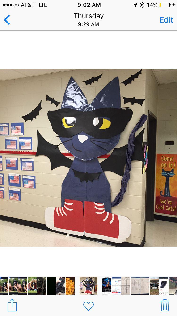 Pete The Cat Halloween Decoration School Door Halloween Classroom Decorations Pete The Cat Halloween Preschool
