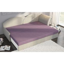 Photo of Sofa sofa bed including bed box Alina / L – dark blue / pattern fun furniture