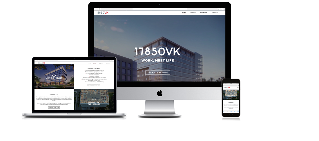 17850 Von Karman website and brand design for Hines -  www.17850vonkarman.com #website #webdesign #branding